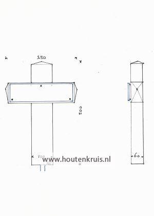 Kruis 150/2 glaslook - Klein 2
