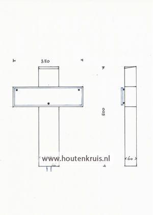 Kruis 150/2 glaslook - Klein 1
