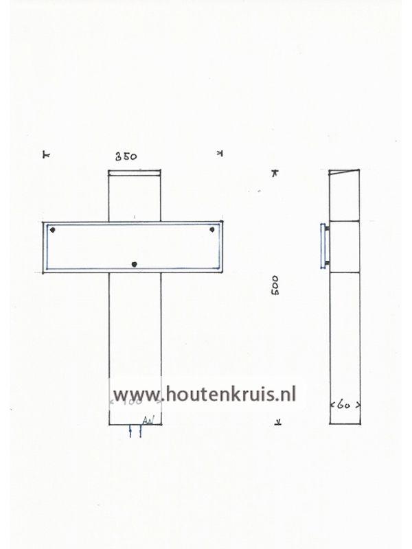 Kruis 150/2 glaslook - Klein